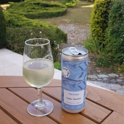 "Domaine Martin and Half Full Wines launched this can called ""Océan"" - A dry white wine"